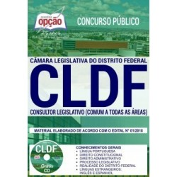 Apostila Concurso CLDF 2018 - Consultor Legislativo (Todas as Áreas)
