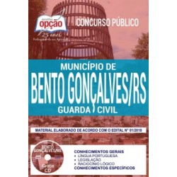 Apostila PDF Concurso Bento Gonçalves - Guarda Civil