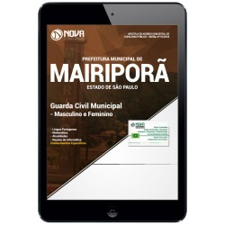 Apostila pdf Concurso Mairiporã SP 2018 - Guarda Civil Municipal