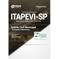 Apostila Concurso Itapevi SP 2019 - Guarda Civil Municipal