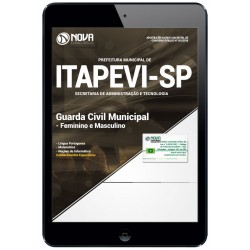 Apostila pdf Concurso Itapevi SP 2019 - Guarda Civil Municipal