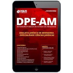 Apostila pdf DPE AM 2019 - Analista Jurídico de Defensoria -...