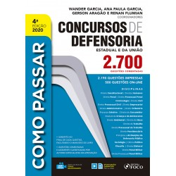Como Passar em Concursos da Defensoria - 4ª Ed - 2020