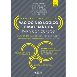 Raciocínio Lógico e Matemática para Concursos - Manual Completo -...